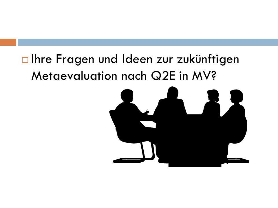  Ihre Fragen und Ideen zur zukünftigen Metaevaluation nach Q2E in MV?
