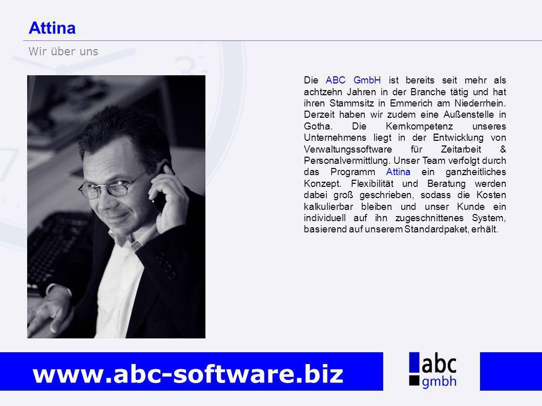www.abc-software.biz Die ABC GmbH ist bereits seit mehr als achtzehn Jahren in der Branche tätig und hat ihren Stammsitz in Emmerich am Niederrhein. D