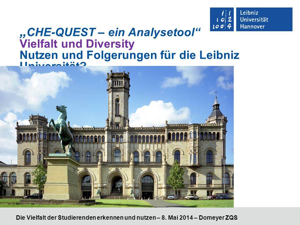 """Die Vielfalt der Studierenden erkennen und nutzen – 8. Mai 2014 – Domeyer ZQS """" CHE-QUEST – ein Analysetool"""" Vielfalt und Diversity Nutzen und Folgeru"""