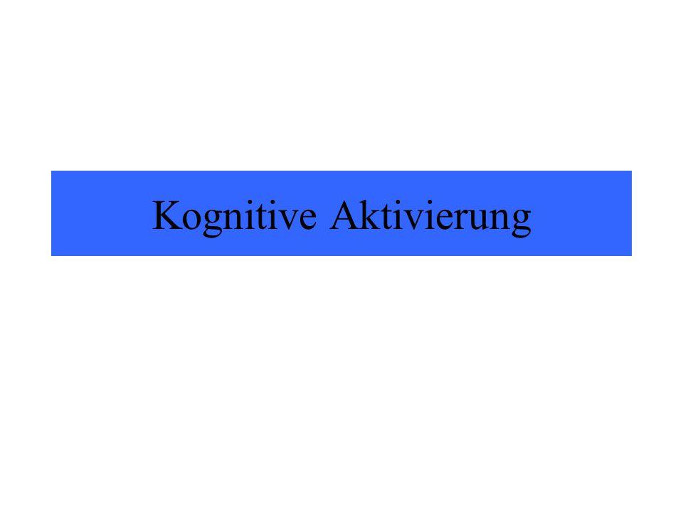 Kognitive Aktivierung