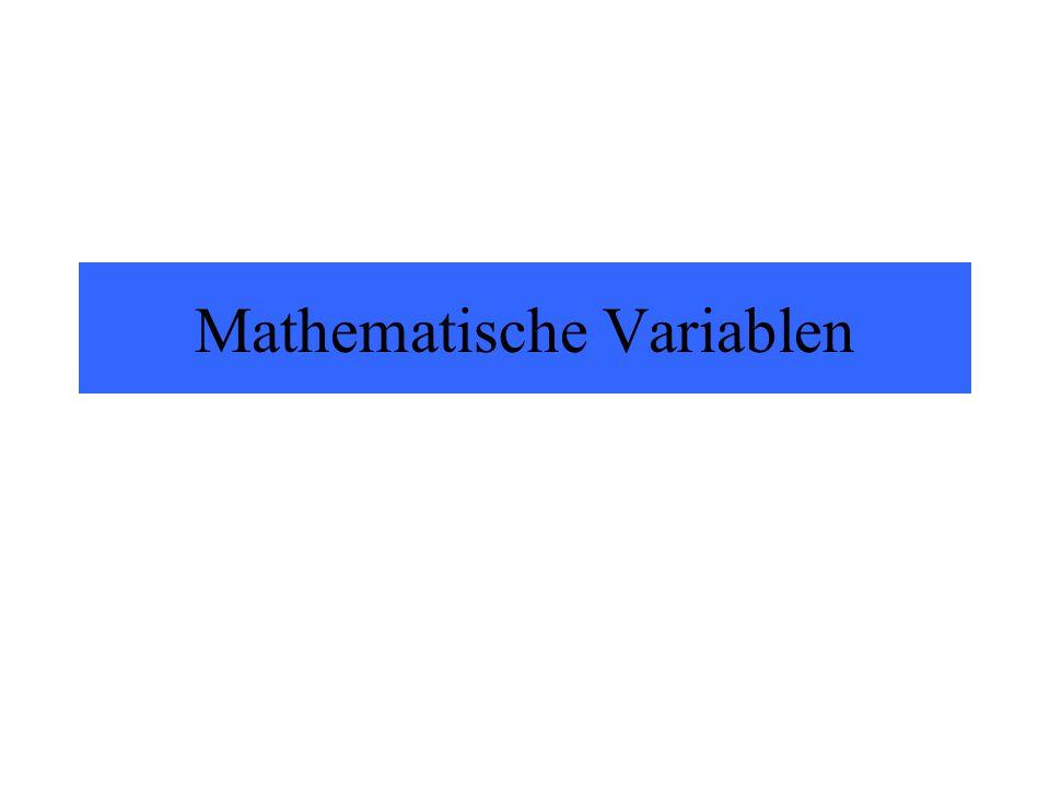 Mathematische Variablen