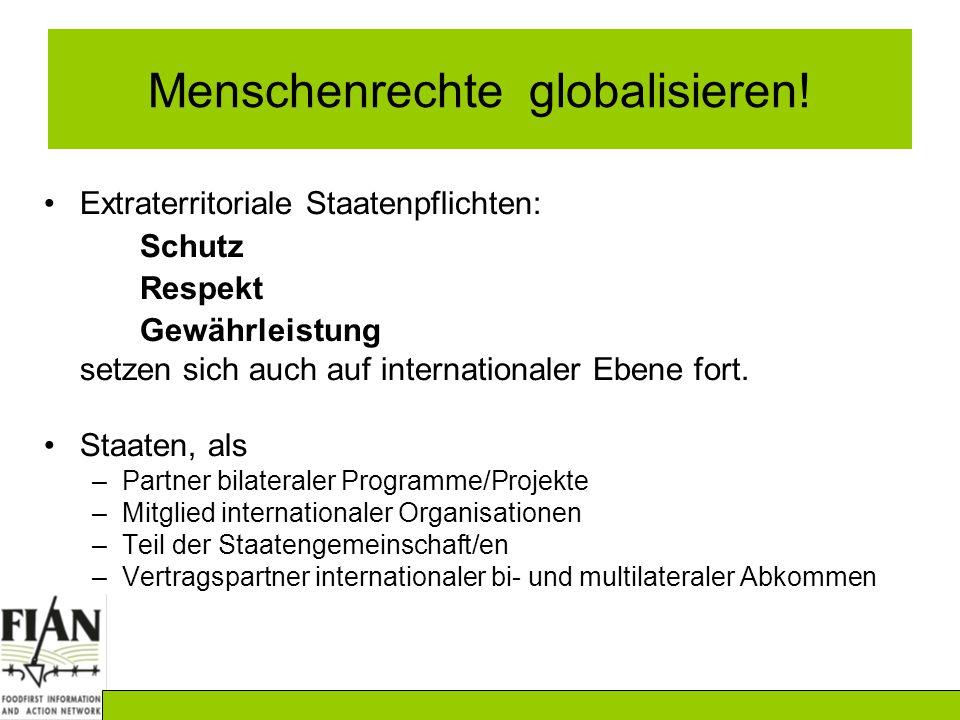 Menschenrechte globalisieren.