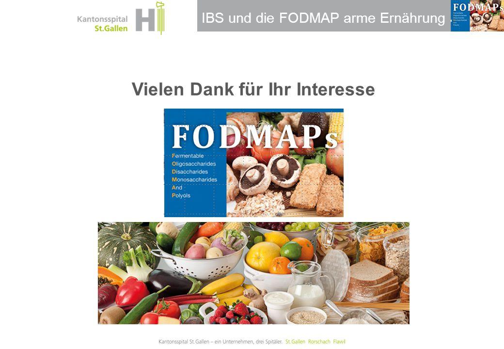IBS und die FODMAP arme Ernährung Vielen Dank für Ihr Interesse