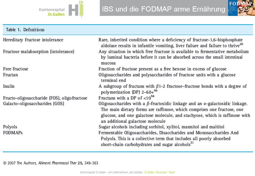 IBS und die FODMAP arme Ernährung