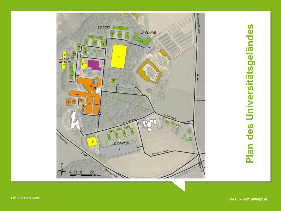 LaSalle Beauvais DATE – Nom entreprise Plan des Universitätsgeländes