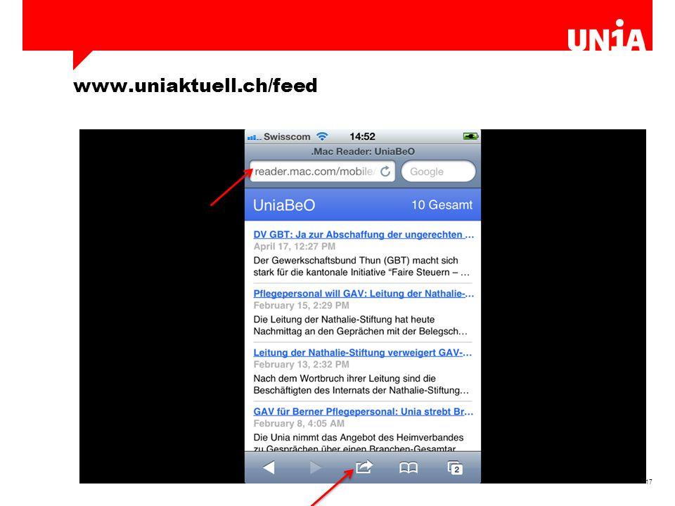 17 www.uniaktuell.ch/feed