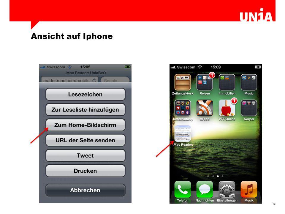 18 Ansicht auf Iphone