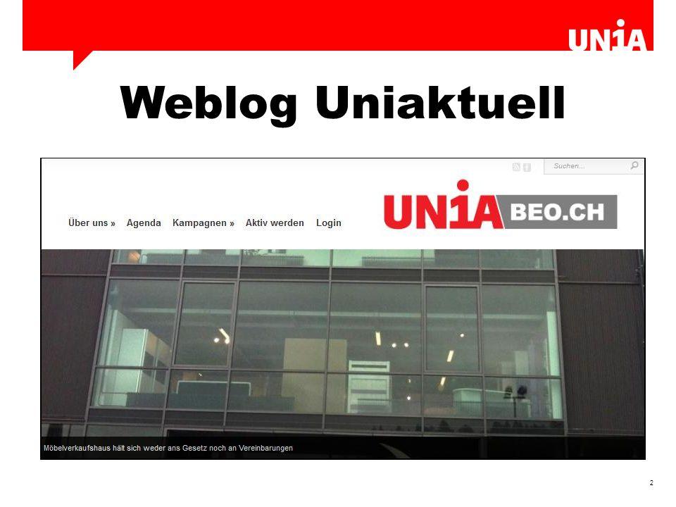 3 Einloggen www.uniaktuell.ch oder www.uniabeo.ch www.uniaktuell.chwww.uniabeo.ch