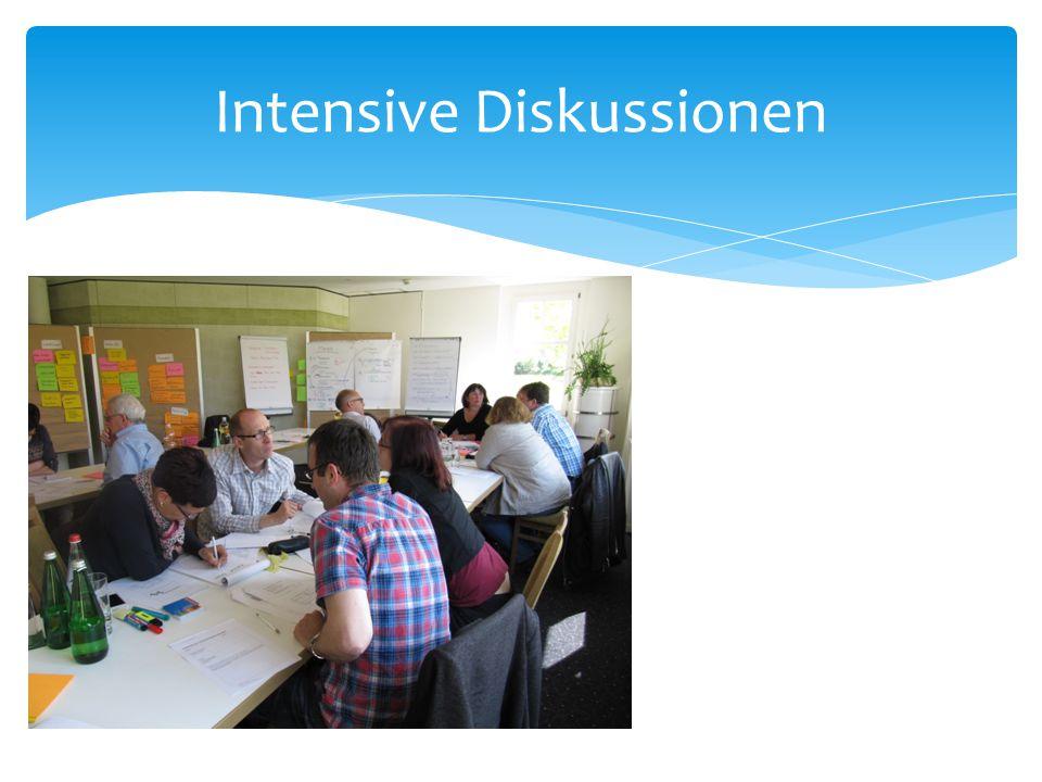 Intensive Diskussionen