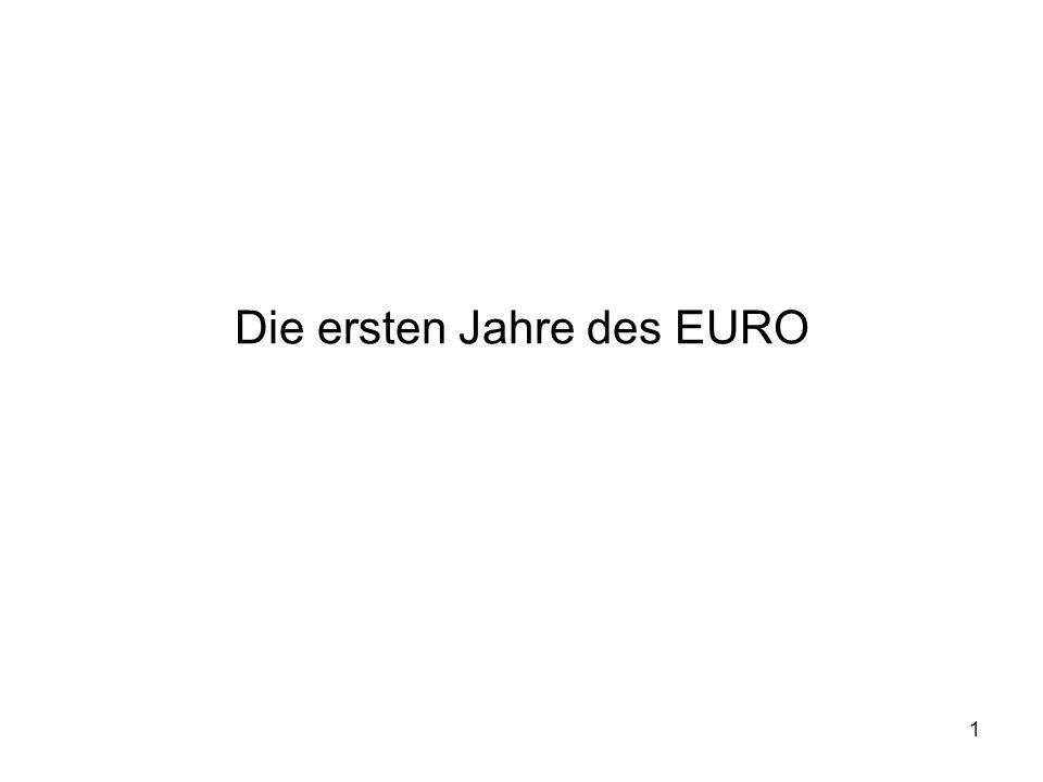 1 Die ersten Jahre des EURO