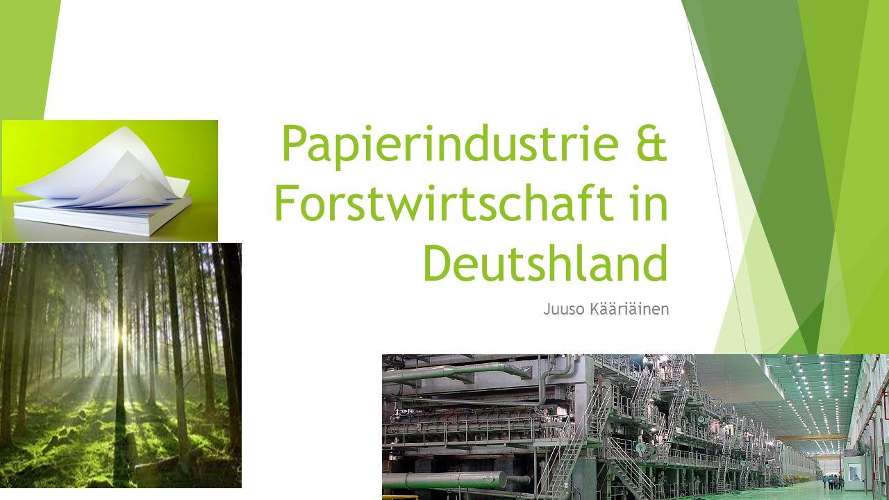 Papierindustrie & Forstwirtschaft in Deutshland Juuso Kääriäinen