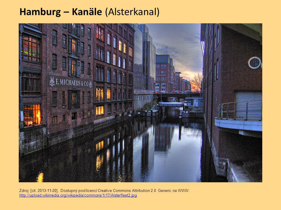 Hamburg – Kanäle (Alsterkanal) Zdroj: [cit.2013-11-20].