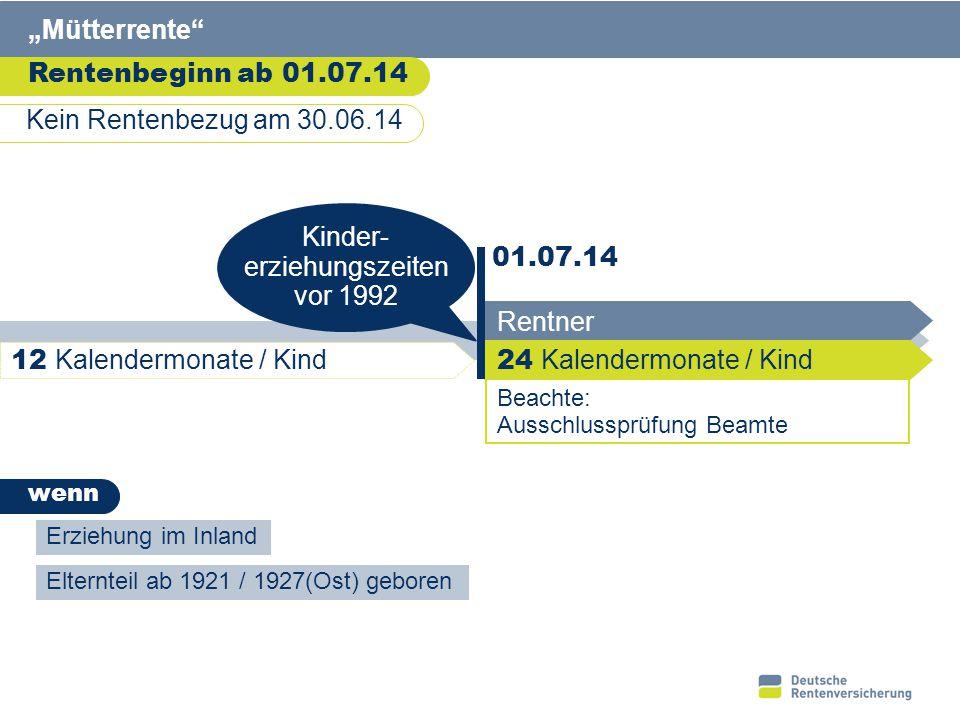 """6 Verbesserung der Erwerbsminderungsrente Höhere Rente Rentner EM-Rente 4 Jahre """"Günstiger- prüfung (von 60 auf 62 ) Anhebung Zurechnungs zeit 01.07.14 Eintritt Erwerbs- minderung"""