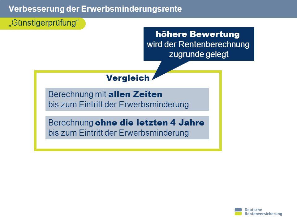 8 Verbesserung der Erwerbsminderungsrente Dauer der Zurechnungszeit – Rente ab 01.07.14 Erwerbsminderung / Tod 19.08.13 62.