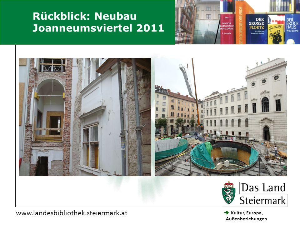  Kultur, Europa, Außenbeziehungen Steiermärkische Landesbibliothek www.landesbibliothek.steiermark.at Einstieg in die Website Hier Schwarzenegger eingeben