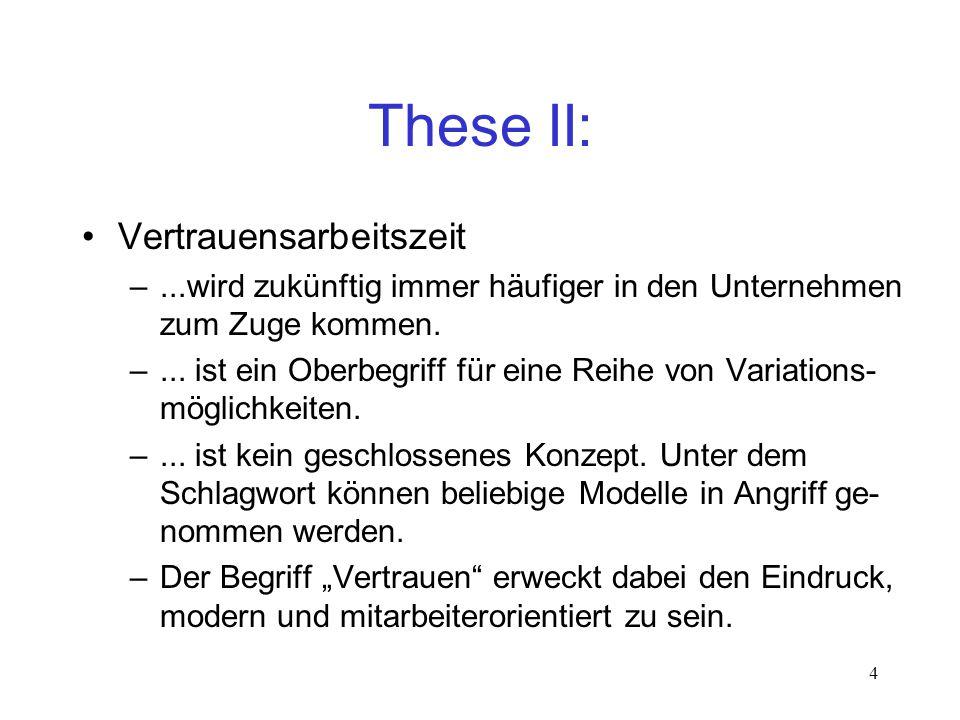 5 These III: Vertrauensarbeitszeit –...ist weder gut noch schlecht.