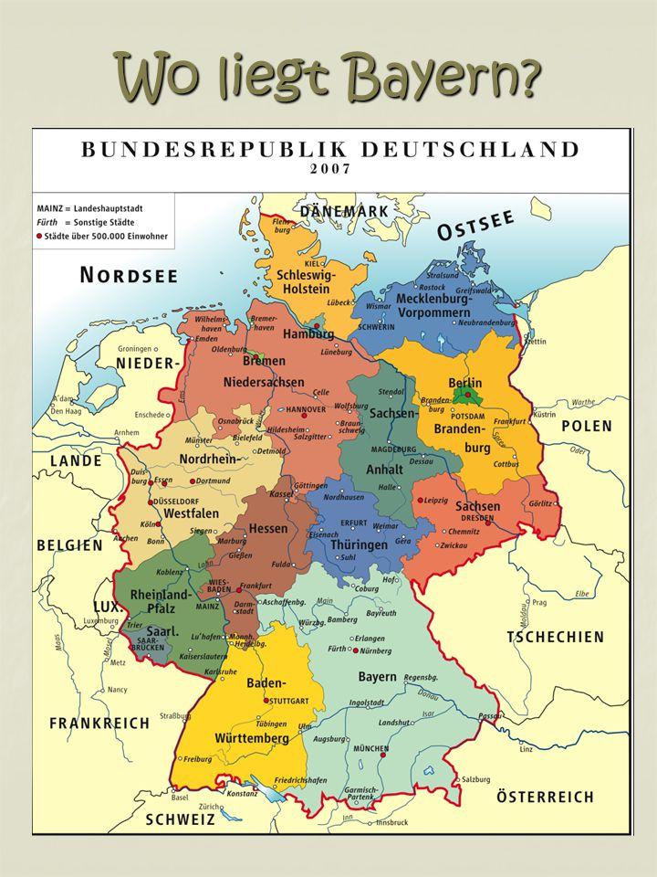 Wo liegt Bayern?