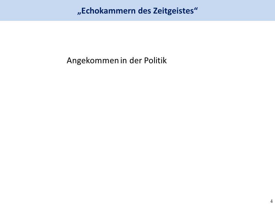 """4 Angekommen in der Politik """"Echokammern des Zeitgeistes"""