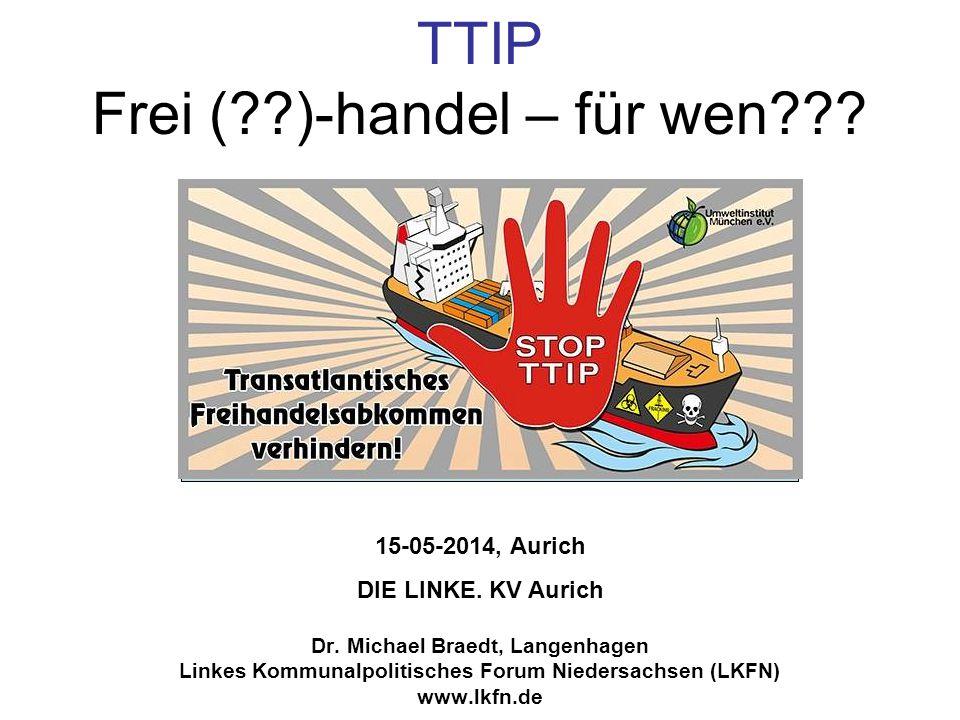 TTIP: Chemikaliensicherheit EU: Alle Chemikalien über 1t/Hersteller und Jahr, die in der EU hergestellt oder in die EU importiert werden, müssen zuvor gemäß der europäischen REACH-VO (EG) 1907/2006 registriert werden.