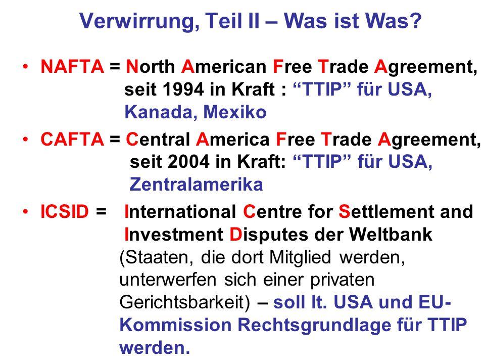 """Treaty Shopping """" TTIP ohne ISDS ist doch harmlos , so Teile der Bundesregierung."""