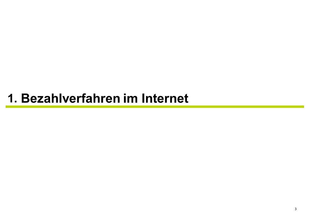 3 1. Bezahlverfahren im Internet