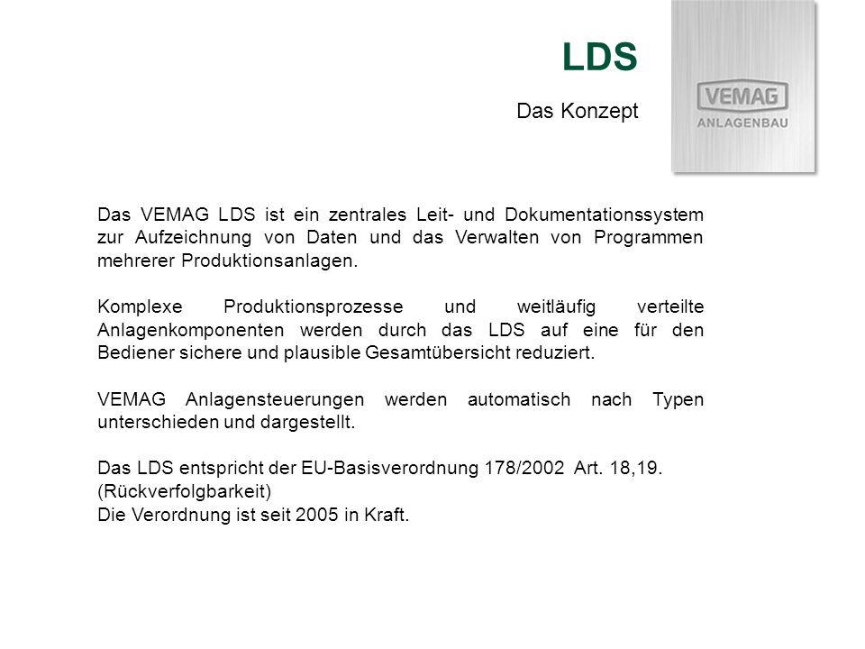 Das VEMAG LDS ist ein zentrales Leit- und Dokumentationssystem zur Aufzeichnung von Daten und das Verwalten von Programmen mehrerer Produktionsanlagen