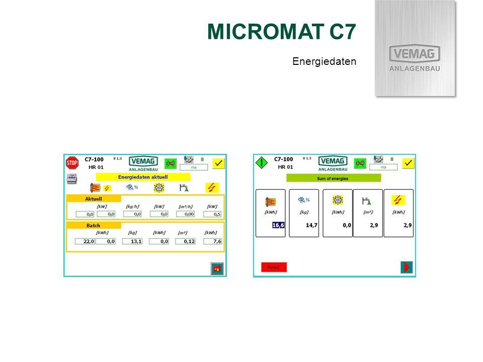 MICROMAT C7 Energiedaten
