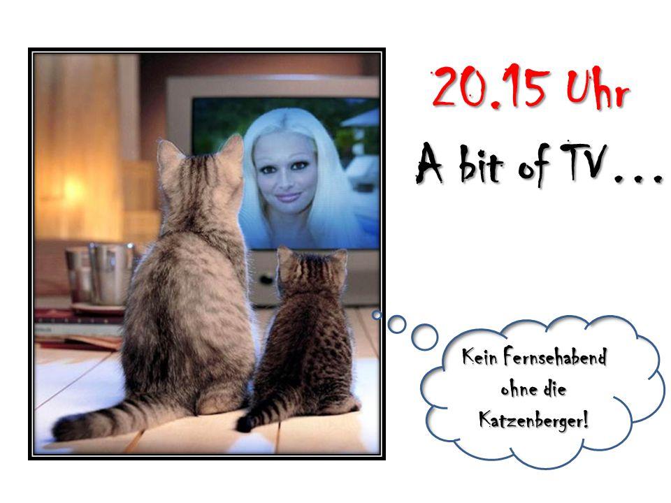 Kein Fernsehabend ohne die Katzenberger! 20.15 Uhr A bit of TV…