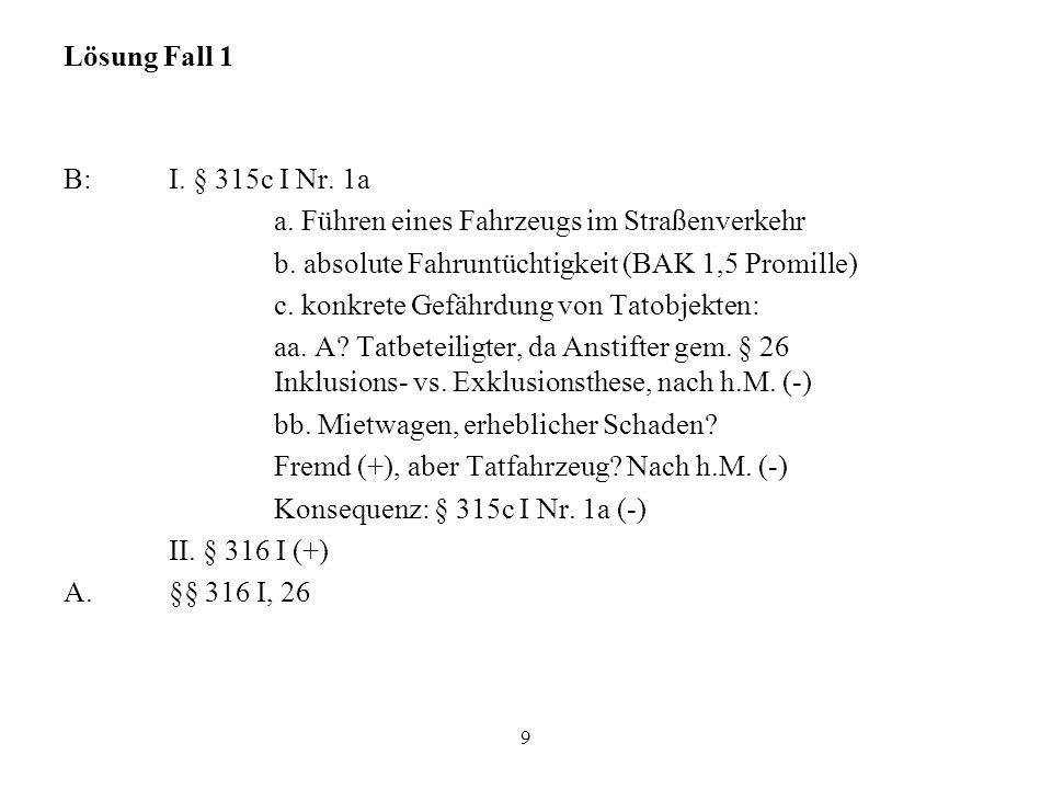 Final- oder Kausalzusammenhang Nach h.M.