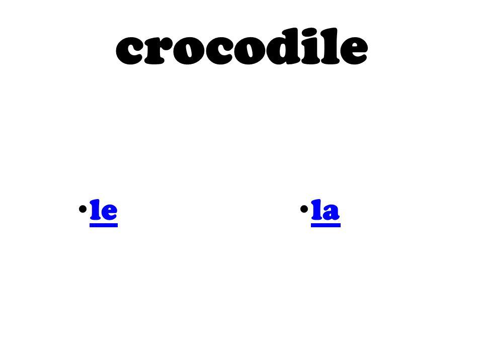 crocodile le la