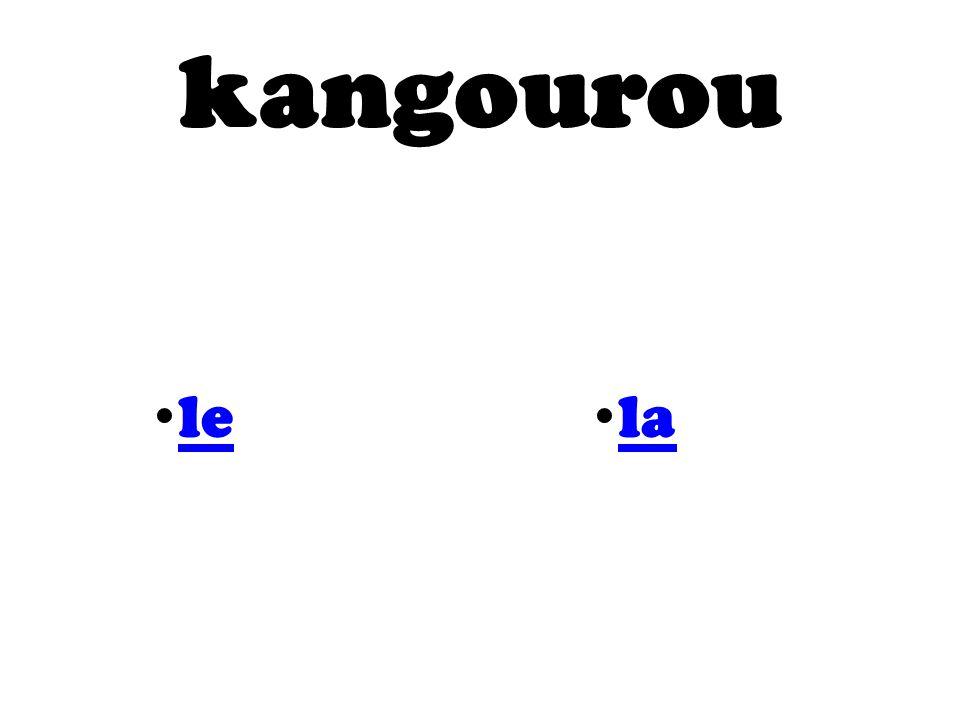 kangourou le la