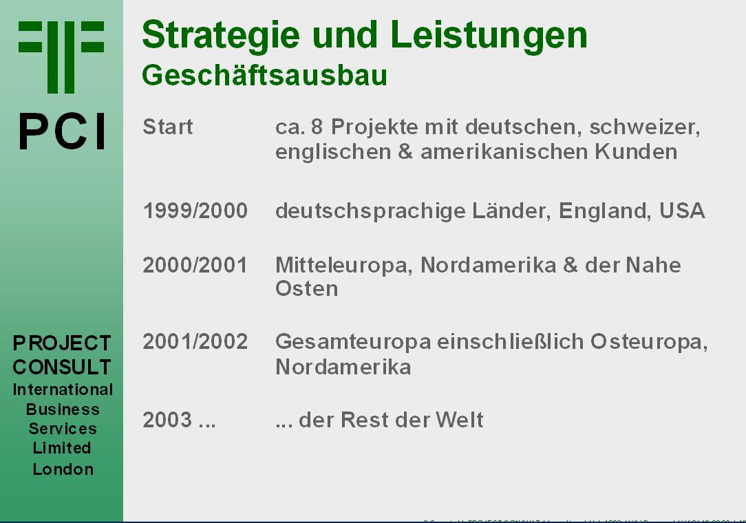 © Copyright PROJECT CONSULT GmbH 1999 MF / DMS99.PPT / V1.0/ 19.08.2014 / 16