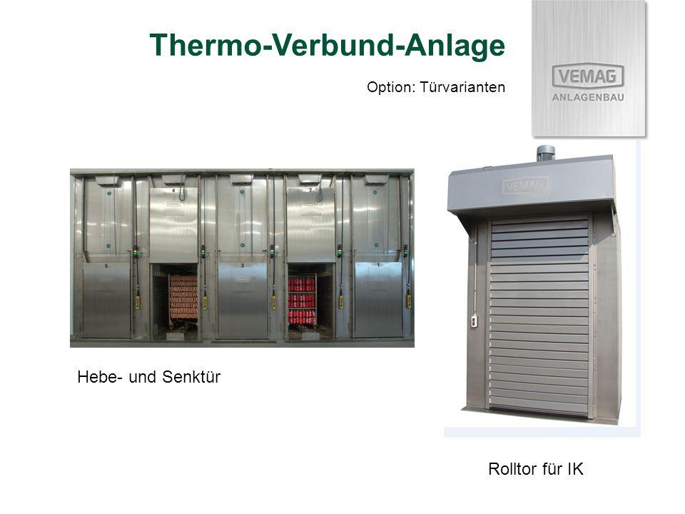 Option: Türvarianten Thermo-Verbund-Anlage Hebe- und Senktür Rolltor für IK