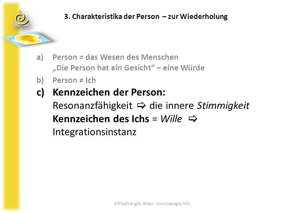 """a)Person = das Wesen des Menschen """"Die Person hat ein Gesicht"""" – eine Würde b)Person ≠ Ich c)Kennzeichen der Person: Resonanzfähigkeit  die innere St"""