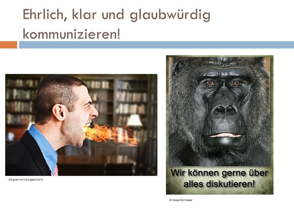 Strasser&Strasser blogneways.blogspot.com Ehrlich, klar und glaubwürdig kommunizieren!
