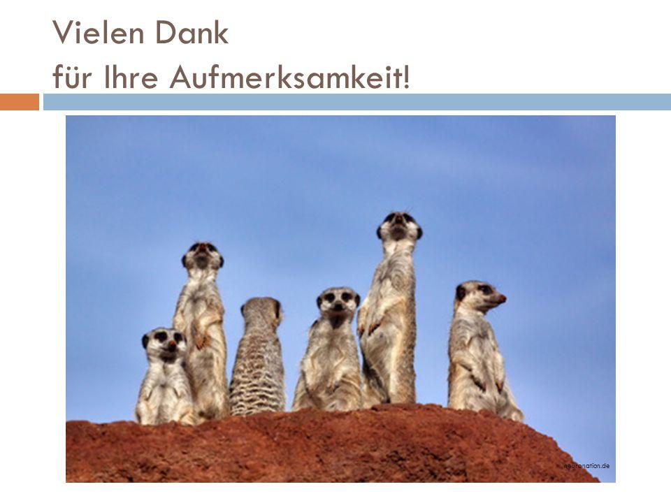 Vielen Dank für Ihre Aufmerksamkeit! neuronation.de