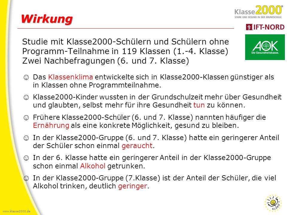www.klasse2000.de Wirkung: Nachbefragung 7.