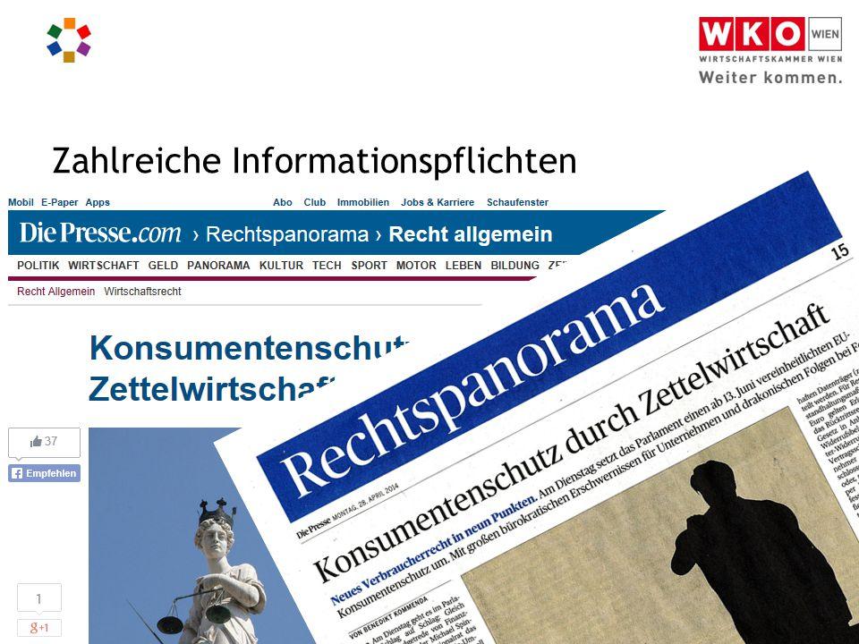Informationspflichten für Webshops I Christian Handig Zahlreiche Informationspflichten