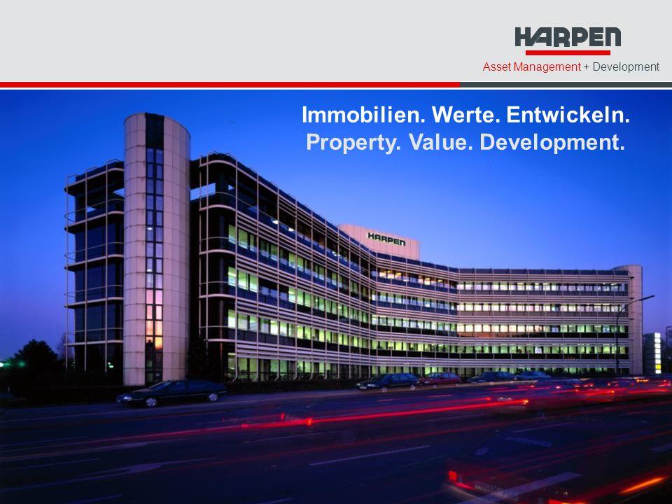 Asset Management + Development Immobilien. Werte. Entwickeln. Property. Value. Development.