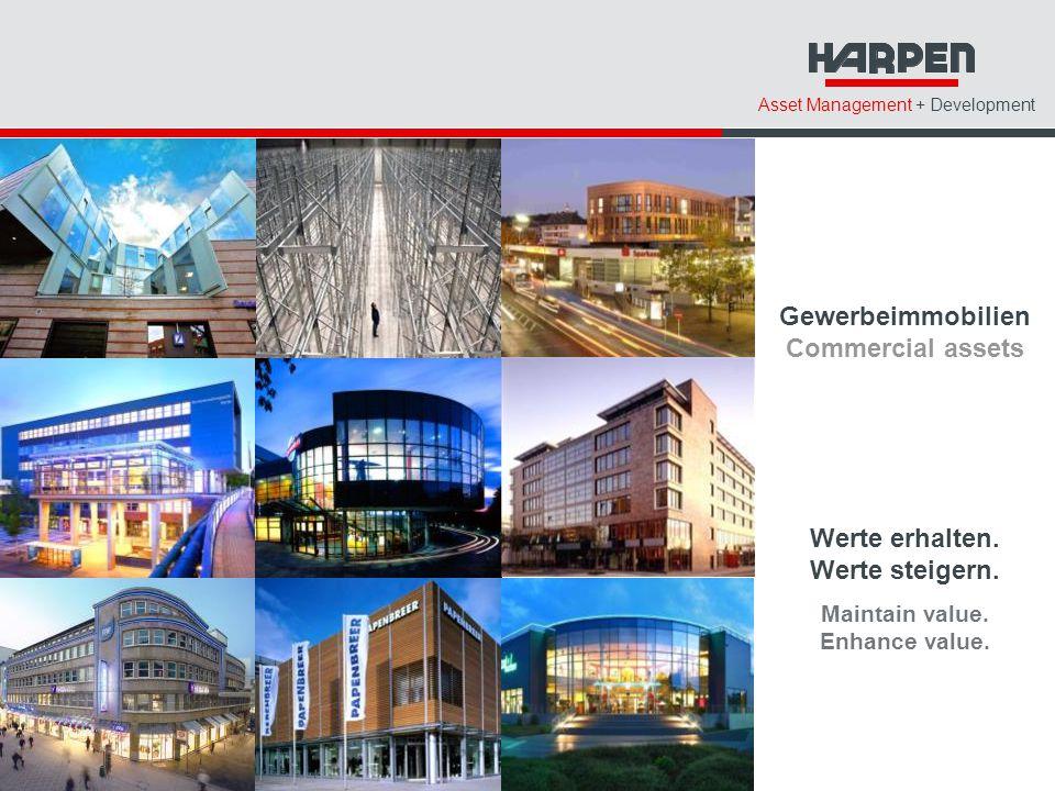 Asset Management + Development Gewerbeimmobilien Commercial assets Werte erhalten.