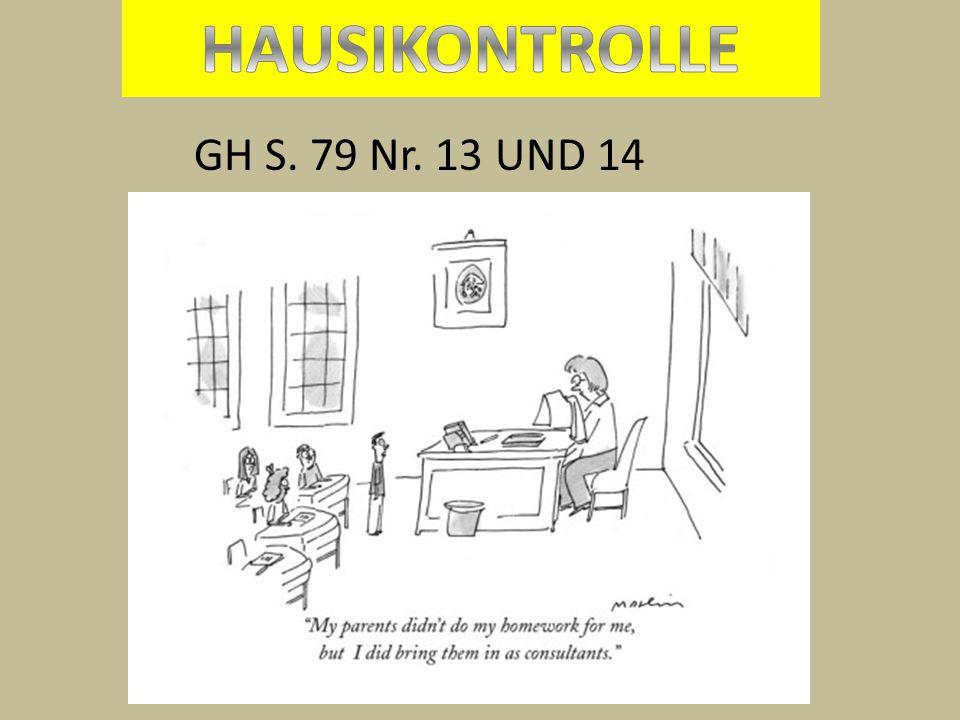 GH S. 79 Nr. 13 UND 14