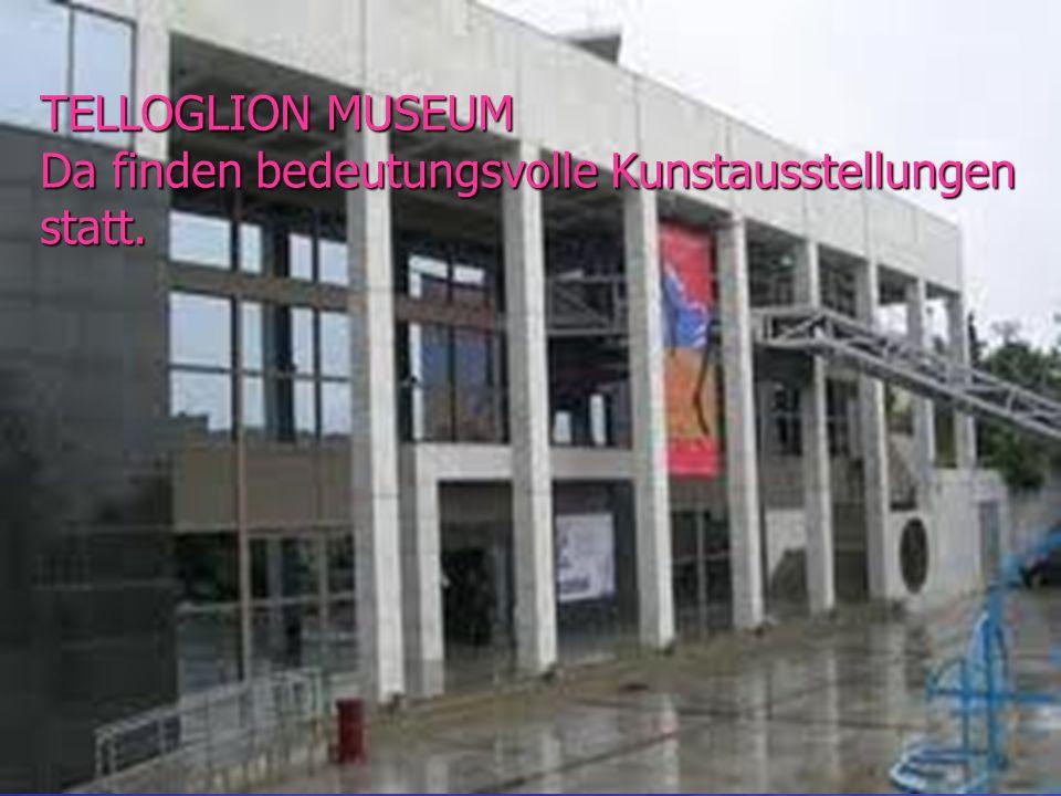 TELLOGLION MUSEUM Da finden bedeutungsvolle Kunstausstellungen statt.