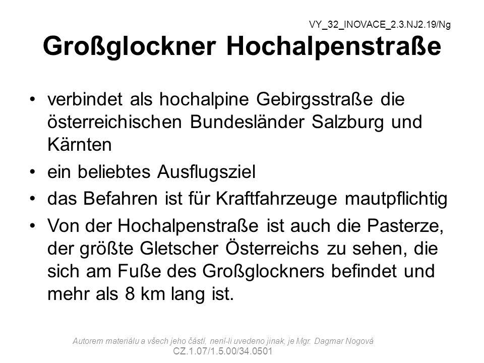 Großglockner Hochalpenstraße verbindet als hochalpine Gebirgsstraße die österreichischen Bundesländer Salzburg und Kärnten ein beliebtes Ausflugsziel