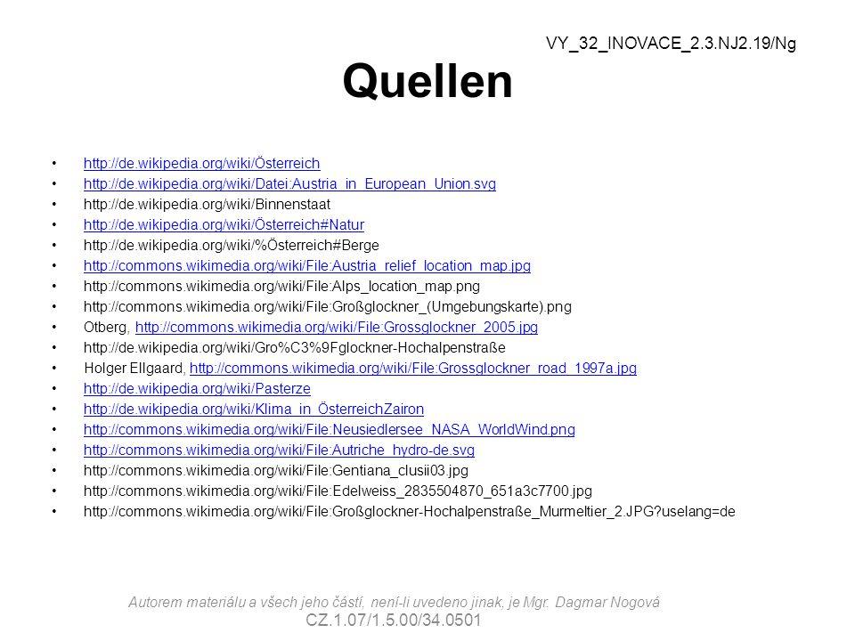 Quellen http://de.wikipedia.org/wiki/Österreich http://de.wikipedia.org/wiki/Datei:Austria_in_European_Union.svg http://de.wikipedia.org/wiki/Binnenst