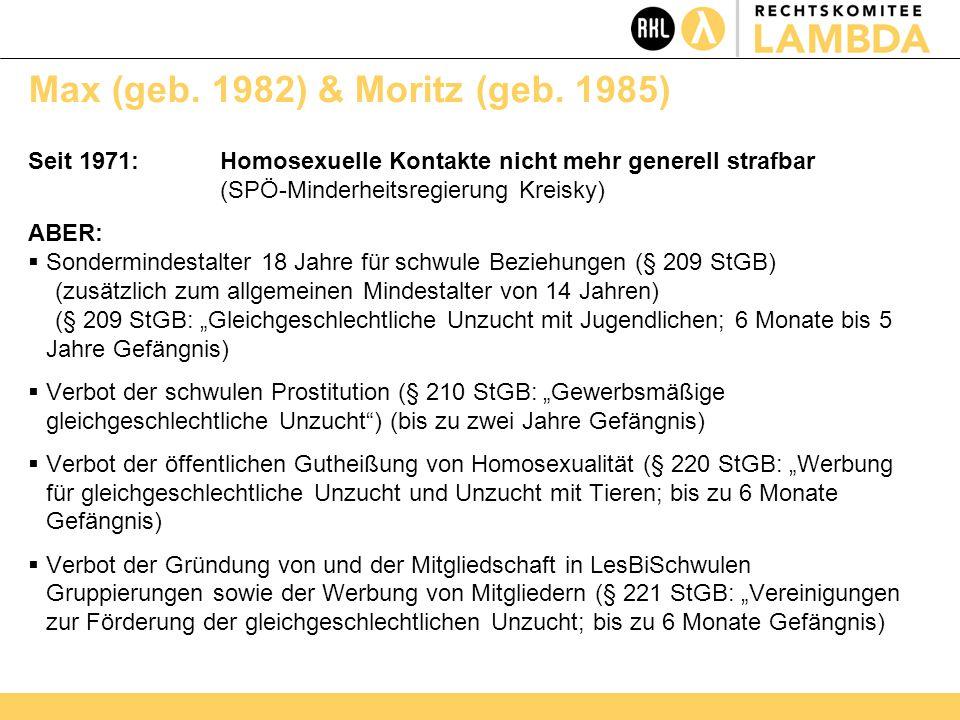 Max (geb. 1982) & Moritz (geb.