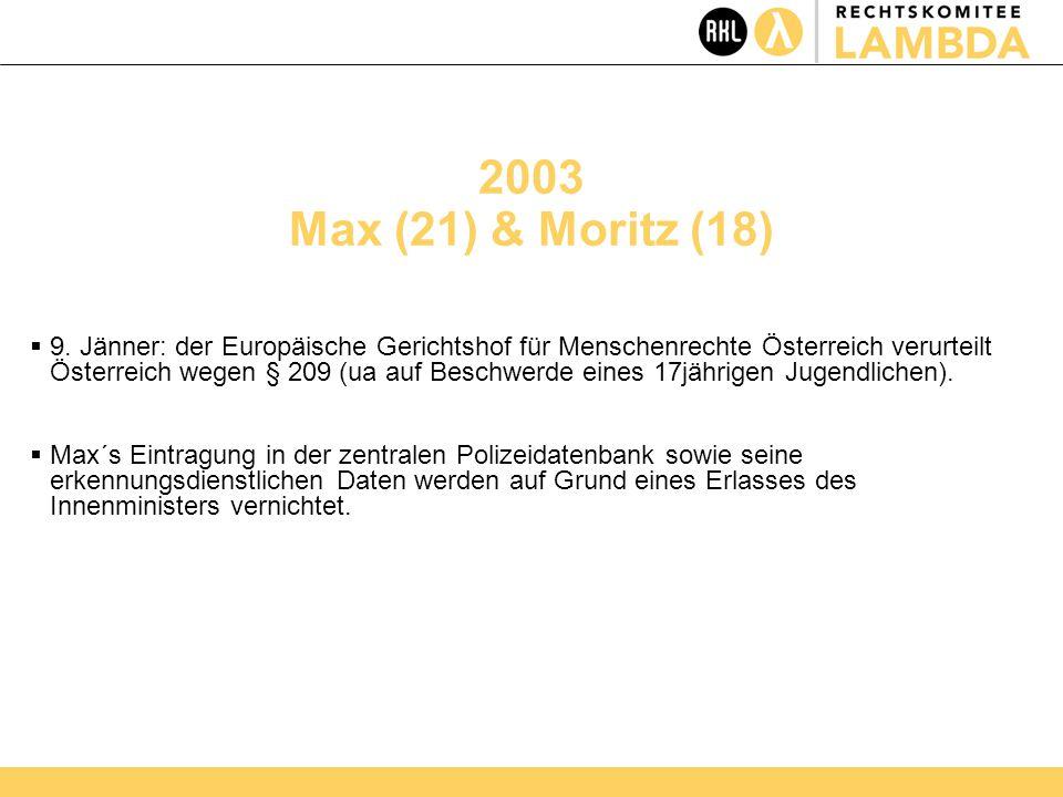 2003 Max (21) & Moritz (18)  9.