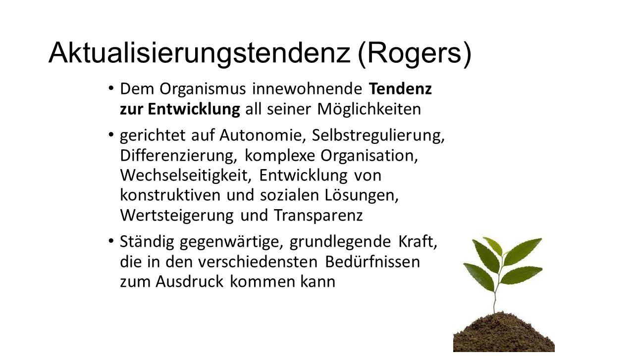 Dem Organismus innewohnende Tendenz zur Entwicklung all seiner Möglichkeiten gerichtet auf Autonomie, Selbstregulierung, Differenzierung, komplexe Org