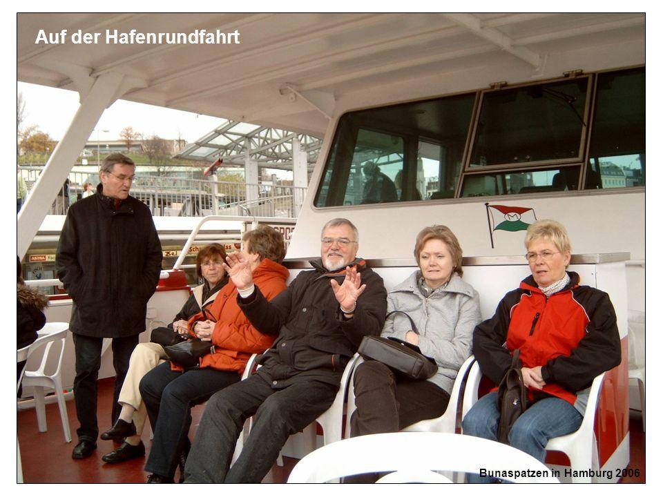 Bunaspatzen in Hamburg 2006 Auf der Hafenrundfahrt