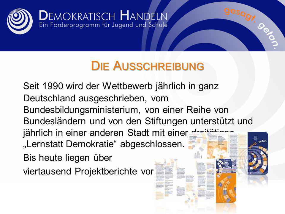 Zum Beispiel Projekt 44/09 60 Jahre Grundgesetz Die Schülerinnen und Schüler der Wilhelm-Kaisen-Schule lassen die Lesung aus den Protokollen der Bremischen Bürgerschaft von der Debatte zur Ratifizierung des Grundgesetzes vom 20.