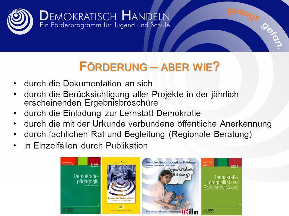 F ÖRDERUNG – ABER WIE .